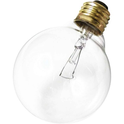 Satco 25W Clear Medium Base G25 Incandescent Globe Light Bulb