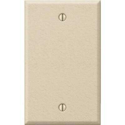 Amerelle 1-Gang Standard Stamped Steel Blank Wall Plate, Ivory Wrinkle