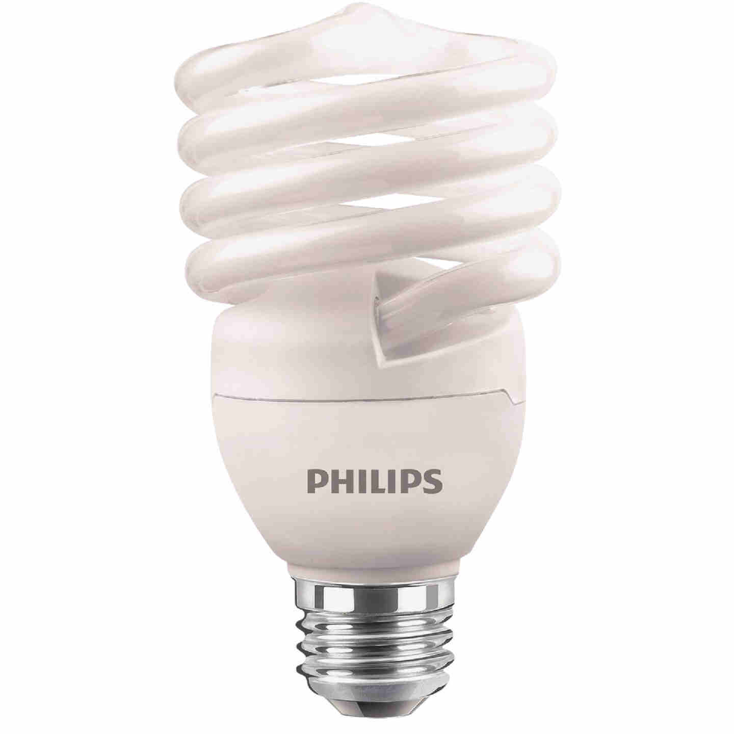 Philips Energy Saver 100W Equivalent Soft White Medium Base T2 Spiral CFL Light Bulb (4-Pack) Image 3