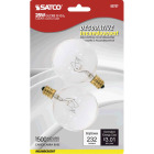 Satco 25W Clear Candelabra Base G16.5 Incandescent Globe Light Bulb (2-Pack) Image 1