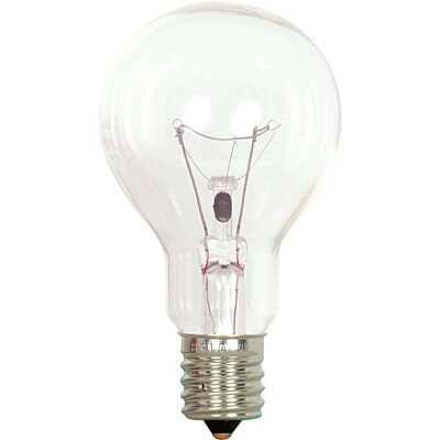 Satco 40W Clear Intermediate A15 Incandescent Ceiling Fan Light Bulb (2-Pack)