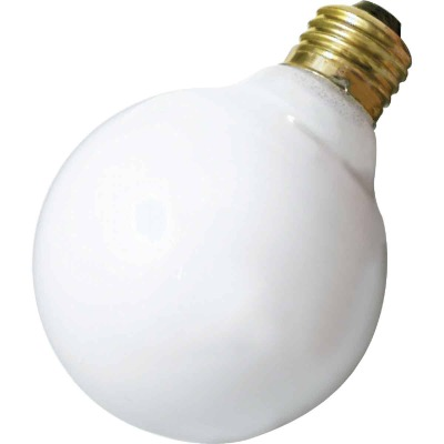Satco 25W Frosted Soft White Medium Base G25 Incandescent Globe Light Bulb