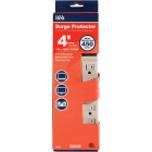 Do it Best 6-Outlet 450J Tan Power Surge Strip with 4 Ft. Cord Image 1