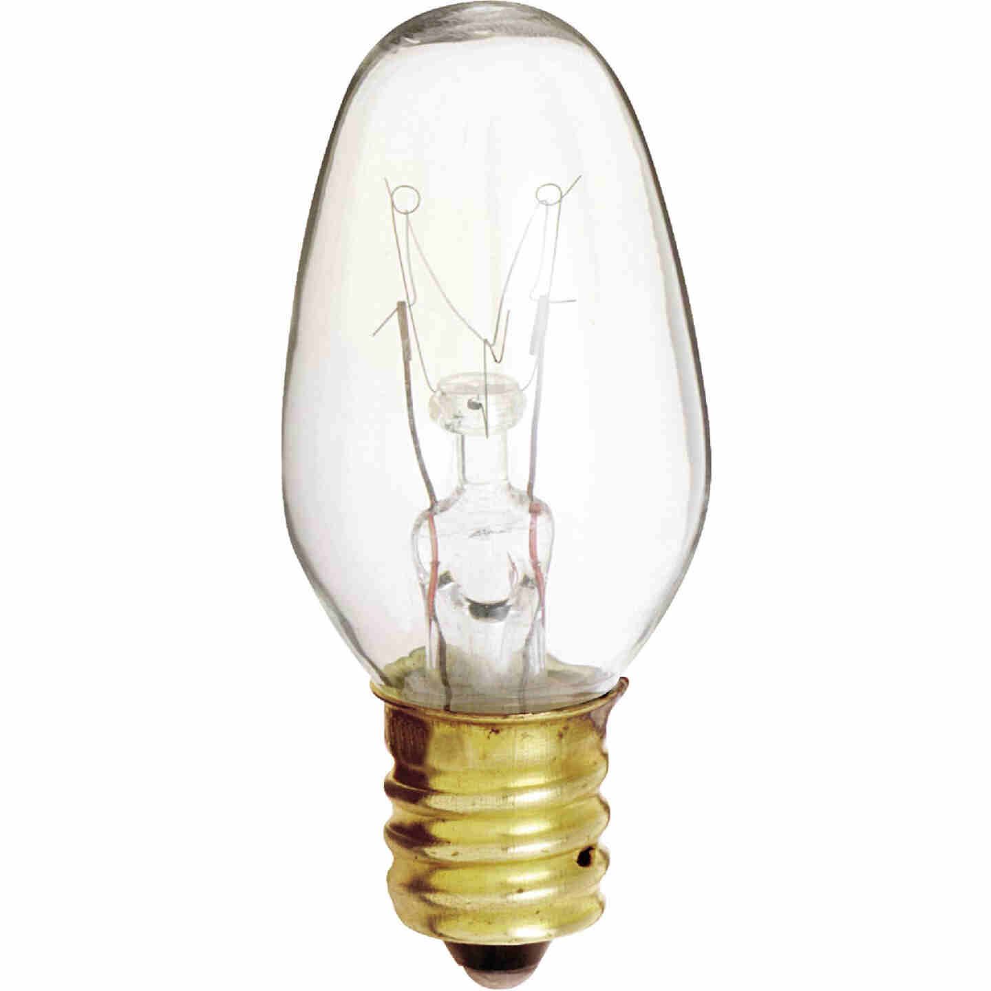 Satco 4W Clear Candelabra Base C7 Incandescent Night Light Bulb (4-Pack) Image 1