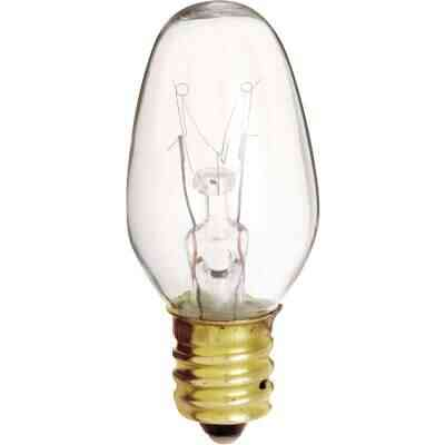 Satco 4W Clear Candelabra Base C7 Incandescent Night Light Bulb (4-Pack)