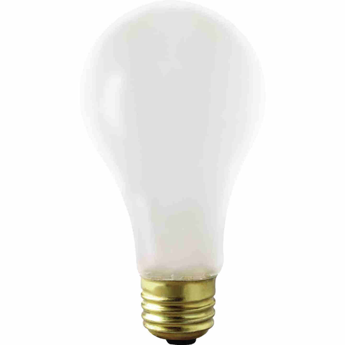 Satco 75W Frosted Medium Base A21 Shatterproof Incandescent Rough Service Light Bulb Image 1