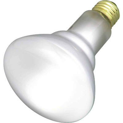 Satco 50W Frosted Medium Base BR30 Reflector Incandescent Floodlight Light Bulb