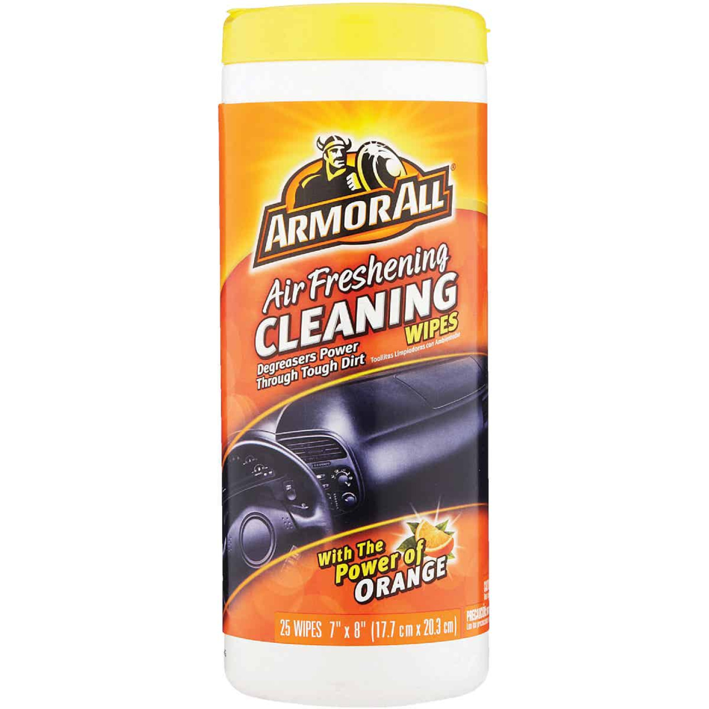 Armor All Air Freshening Cleaning Orange 7 In. x 8 In. Cleaning Wipes (25-Count) Image 1