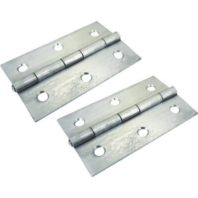 Seachoice 2 In. x 3 In. Stainless Steel Extruded Butt Hinge (2-Pack)
