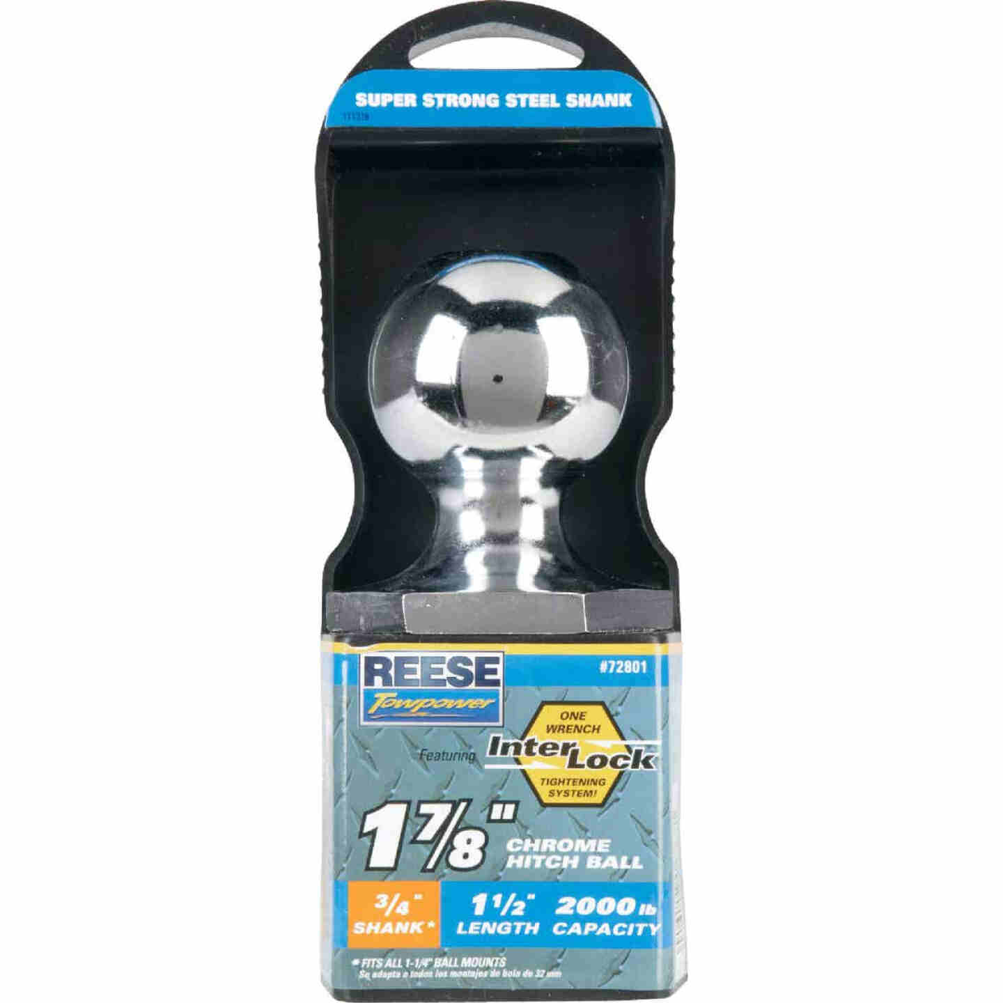 Reese Towpower Class I Interlock Hitch Ball, 1-7/8 In. x 3/4 In. x 1-1/2 In. Image 2