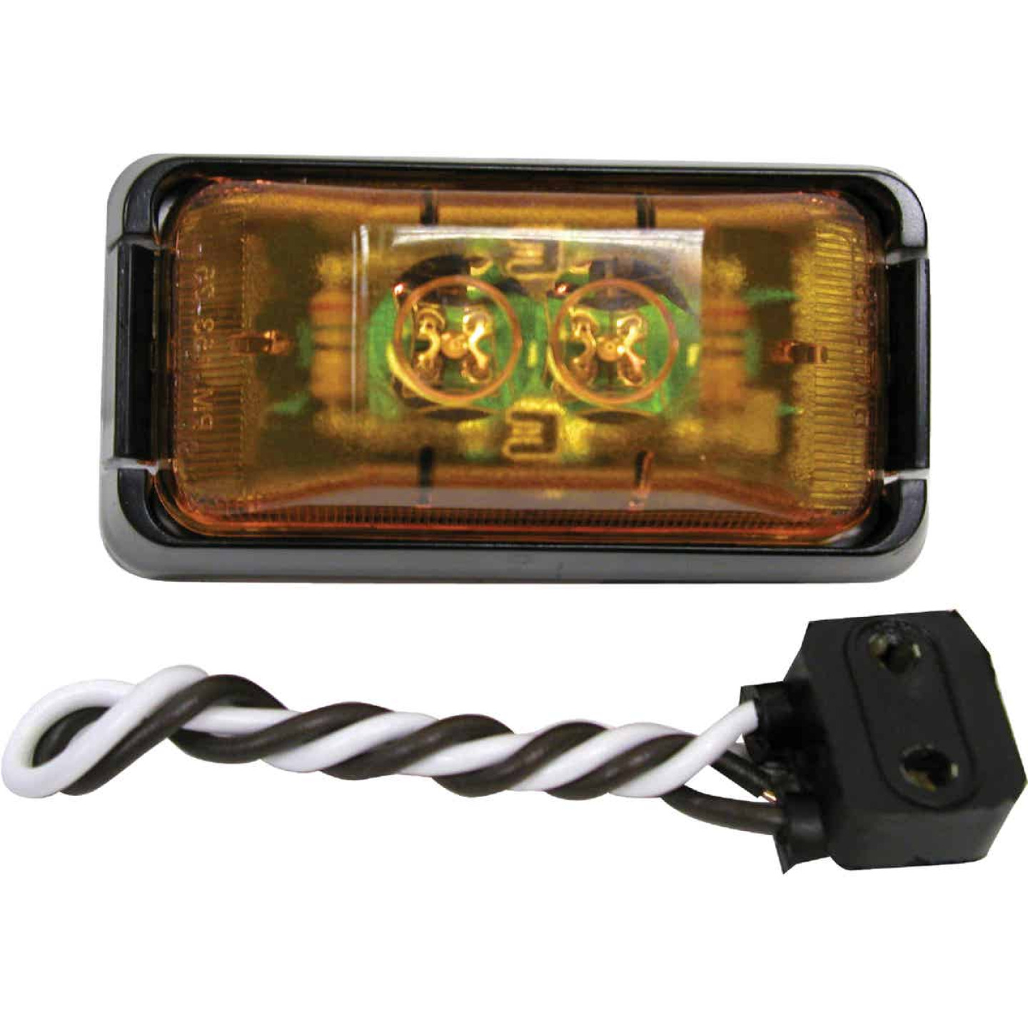 Peterson Rectangle Amber Clearance Light Image 1
