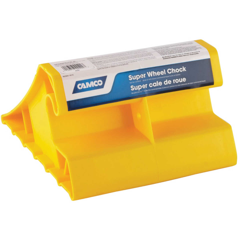 Camco Yellow Polypropylene Super RV Wheel Chock Image 1