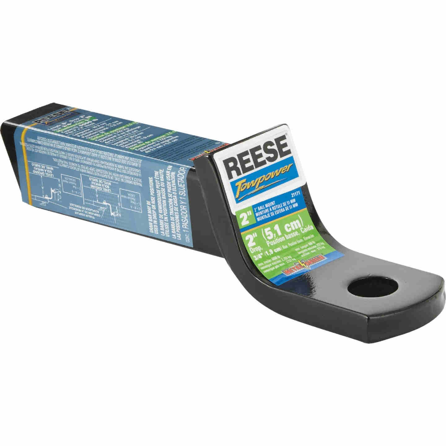 Reese Towpower 3/4 In. x 2 In. Drop Standard Hitch Draw Bar Image 1