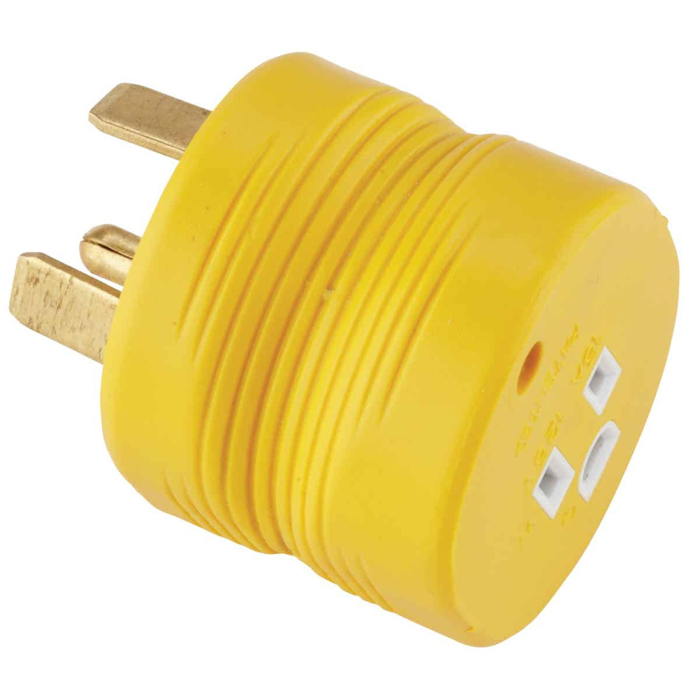 Camco Power Grip 30A Male to 15A Female RV Plug Adapter Image 1