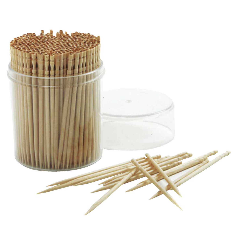 Norpro Ornate Wood Toothpicks (360-Count) Image 1