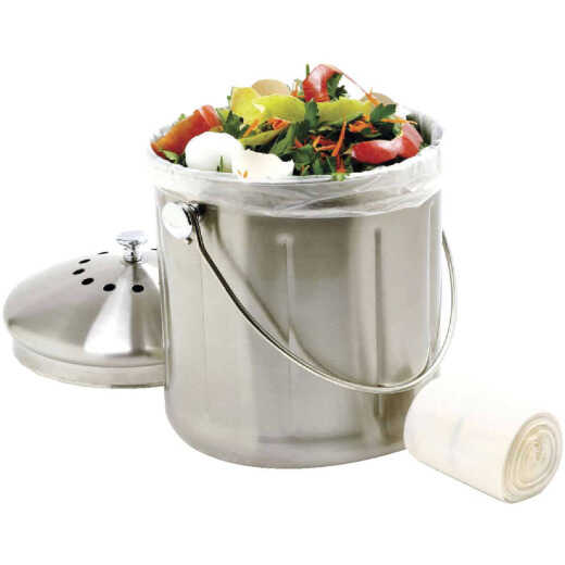 Norpro 6 Liter Degradable Clear Trash Bag (50-Count)