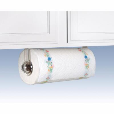 Spectrum Clear Plastic Wall or Cabinet Mount Paper Towel Holder