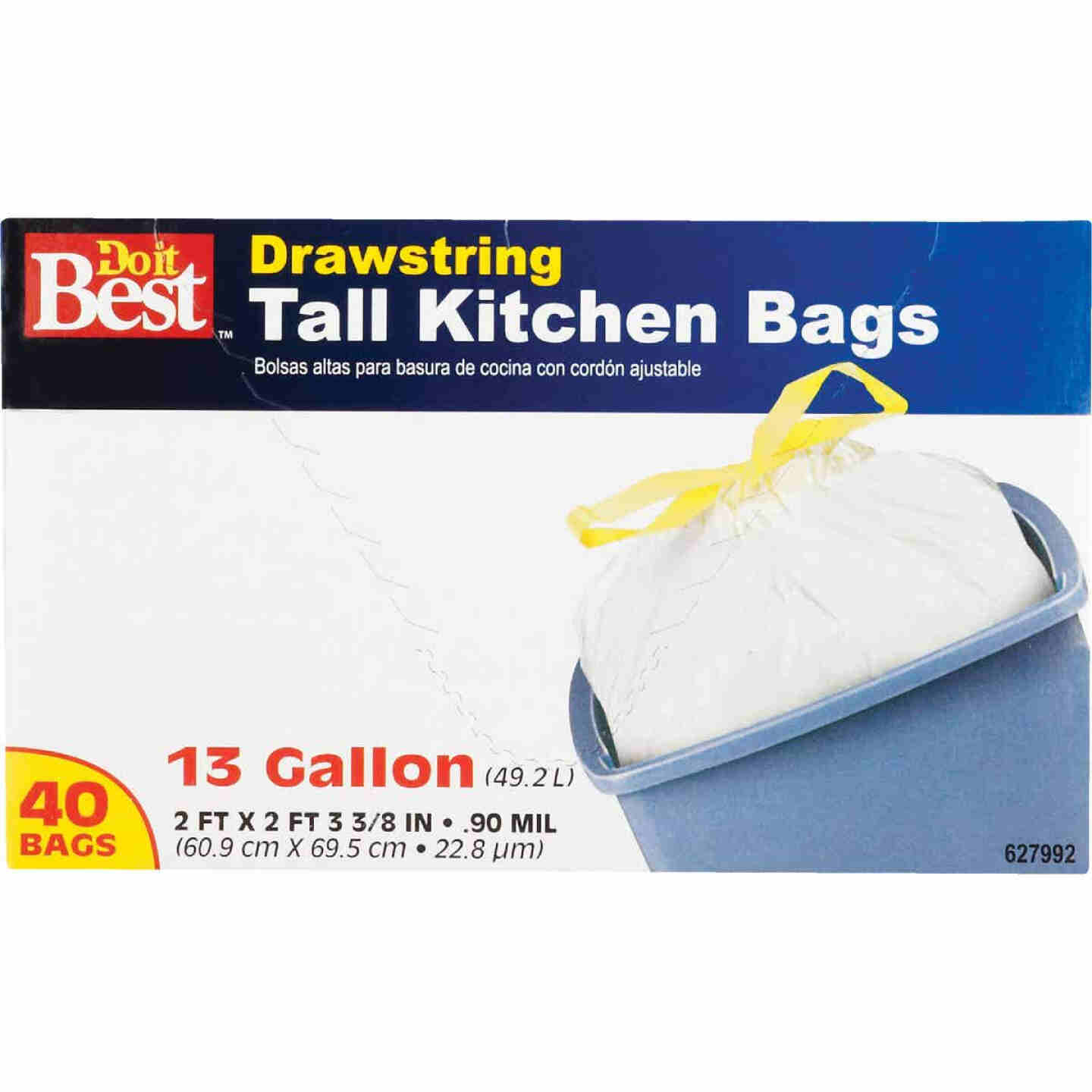 Do it Best 13 Gal. Tall Kitchen White Trash Bag (40-Count) Image 4