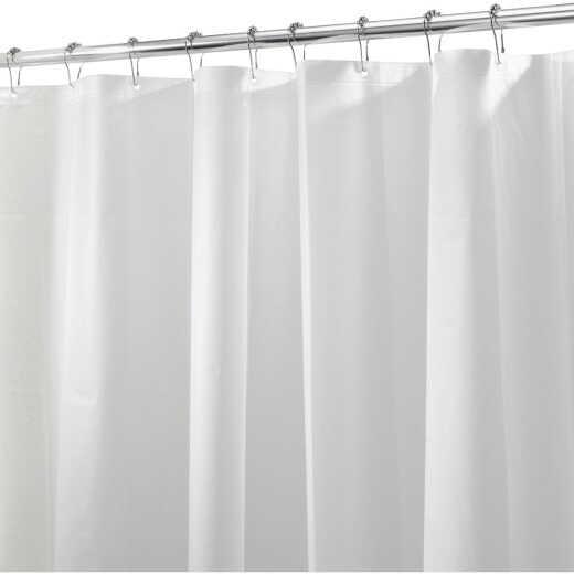 iDesign 72 In. x 72 In. White PEVA Shower Curtain Liner