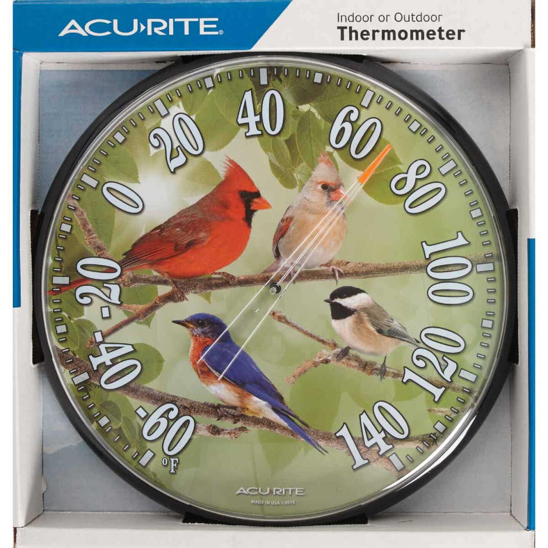"Acurite 12-1/2"" Dia Plastic Dial Songbird Indoor & Outdoor Thermometer Image 2"