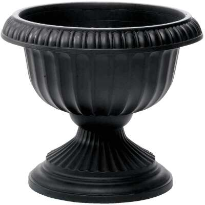 Novelty 12 In. W. x 11 In. H. x 12 In. L. Poly Black Urn