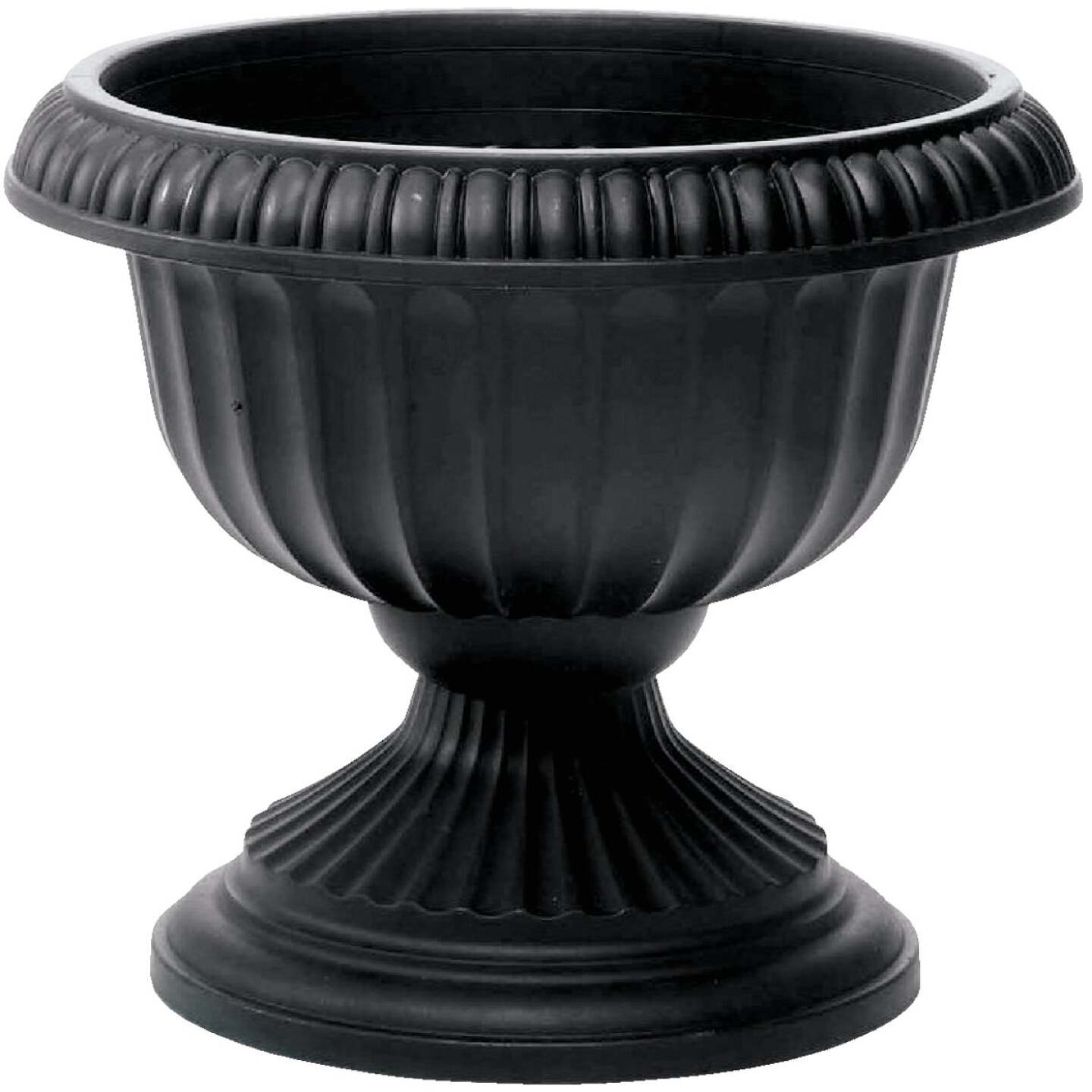 Novelty 18 In. W. x 14.5 In. H. x 18 In. L. Poly Black Urn Image 1