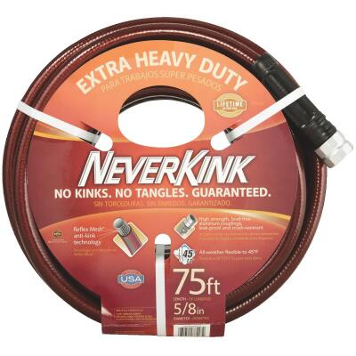 Neverkink 5/8 In. Dia. x 75 Ft. L. Extra Heavy-Duty Garden Hose