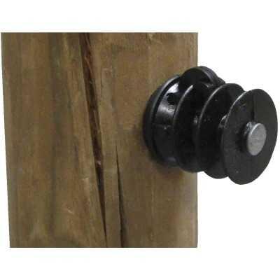 Dare Nail-On Black Polyethylene Electric Fence Insulator (25-Pack)