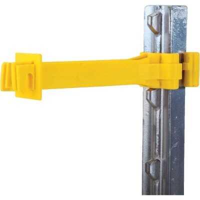 Dare Snug Snap-On Yellow Polyethylene Electric Fence Insulator (15-Pack)