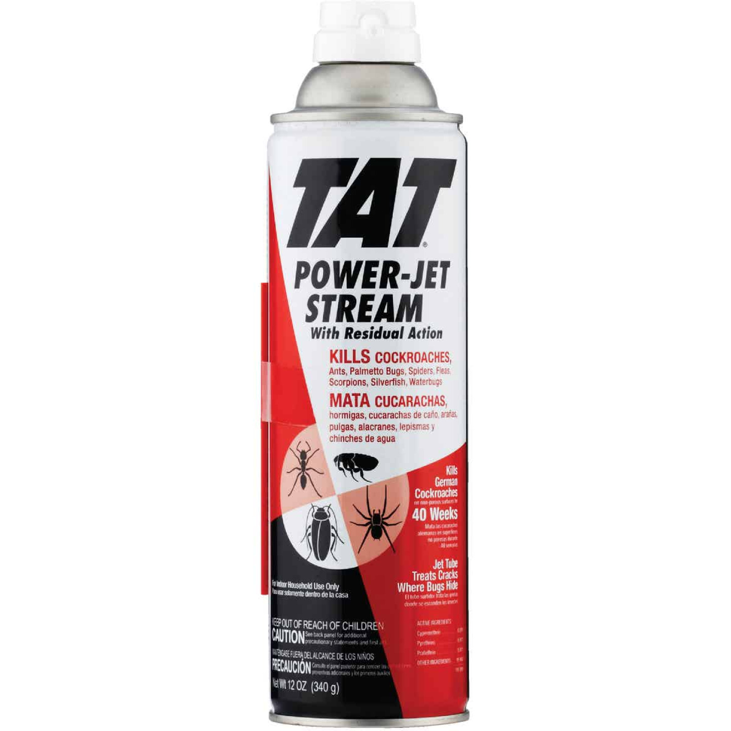 TAT 12 Oz. Aerosol Spray Roach Killer with Power-Jet Stream Image 1