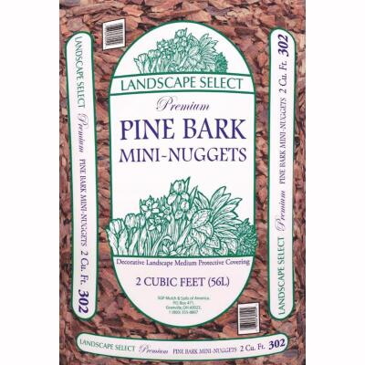 Landscape Select 2 Cu. Ft. Mini Pine Decorative Bark Mulch Nuggets