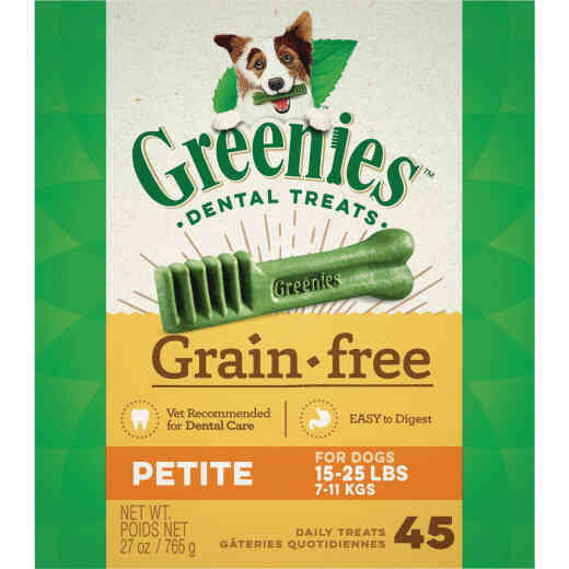Greenies Petite Small Dog Original Flavor Grain-Free Dental Dog Treat (45-Pack)