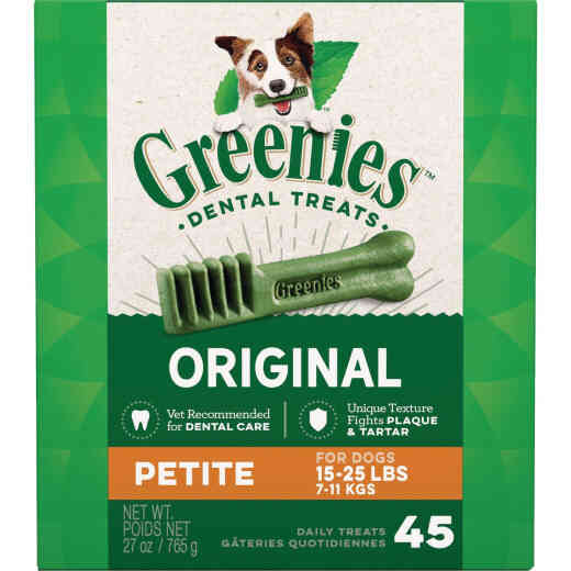 Greenies Petite Small Dog Original Flavor Dental Dog Treat (45-Pack)