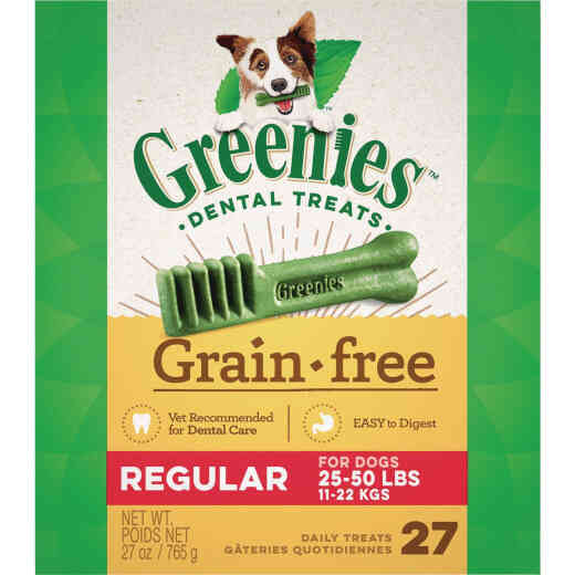 Greenies Regular Medium Dog Original Flavor Grain-Free Dental Dog Treat (27-Pack)