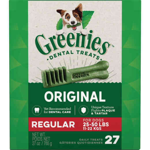 Greenies Regular Medium Dog Original Flavor Dental Dog Treat (27-Pack)