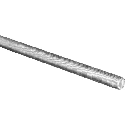 HILLMAN Steelworks 1/2 In. x 3 Ft. Steel Fine Threaded Rod