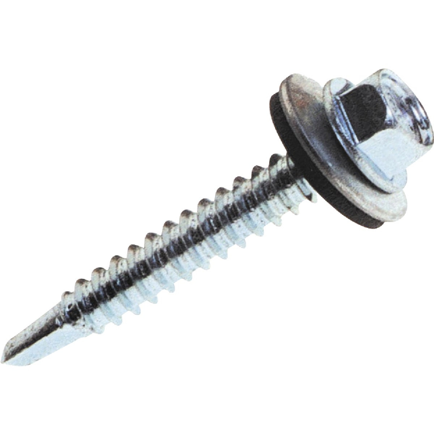 Grip-Rite #10 - #16 x 1 - 1/2 In. Metal to Wood Hex Washer Head Screw (425 Ct.) Image 1
