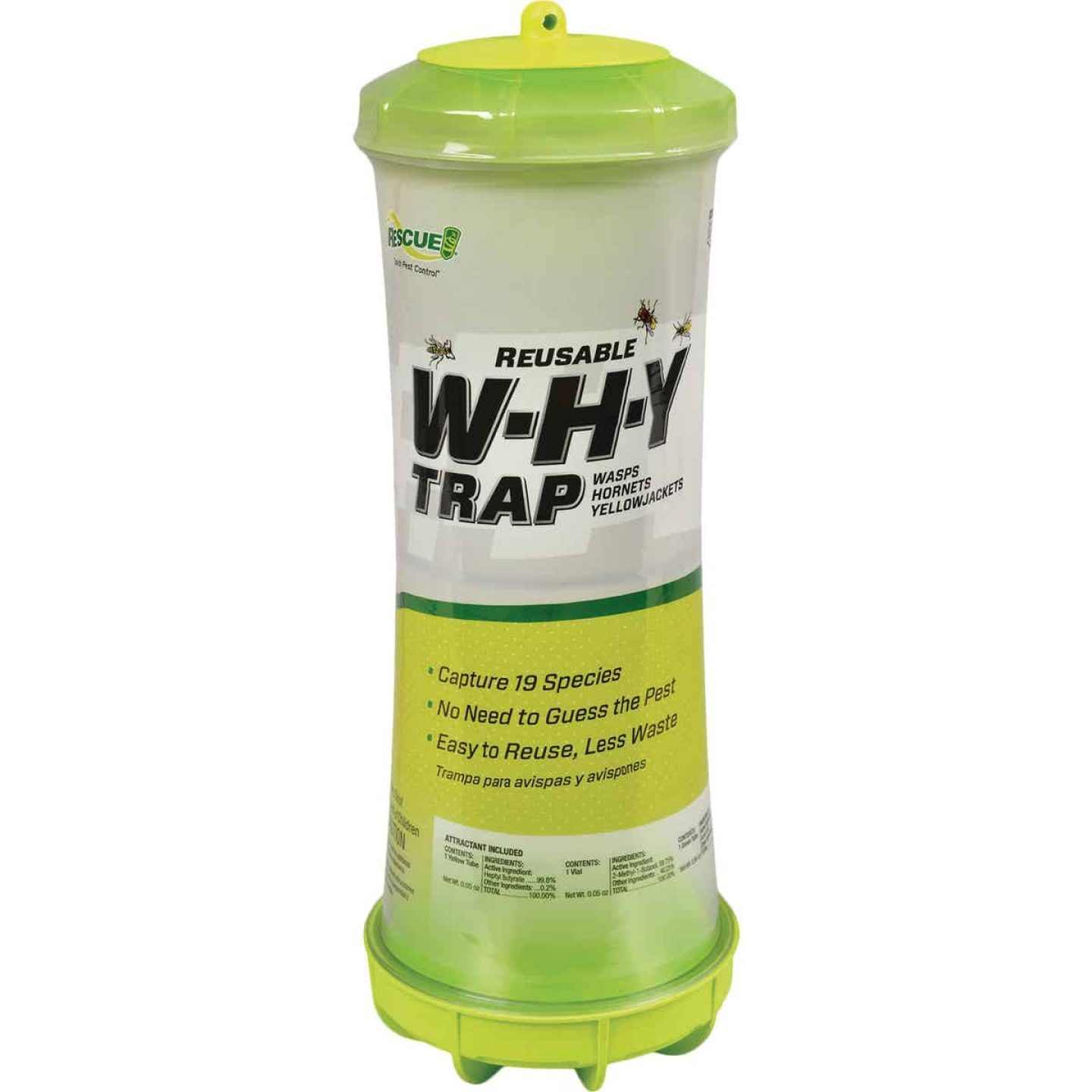 Rescue WHY Reusable Wasp, Hornet, & Yellow Jacket Trap Image 1