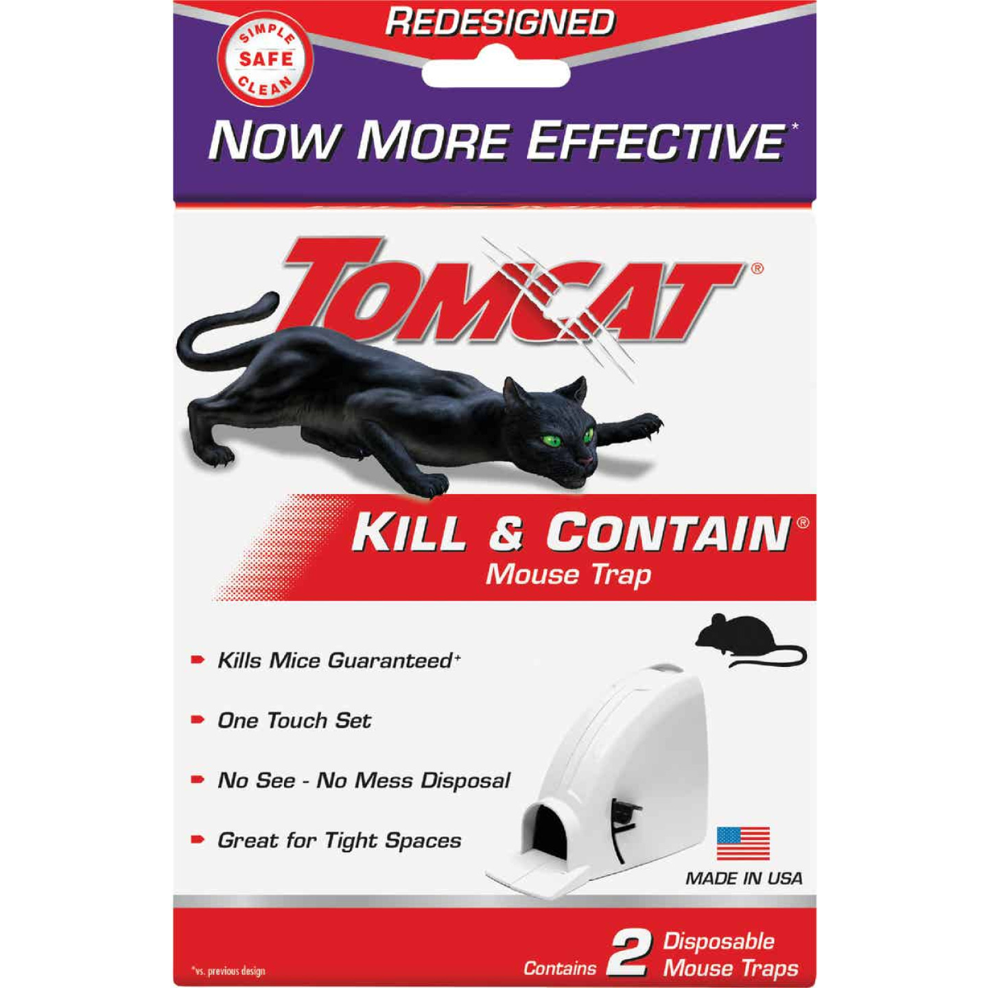 Tomcat Kill & Contain Mechanical Mouse Trap (2-Pack) Image 2