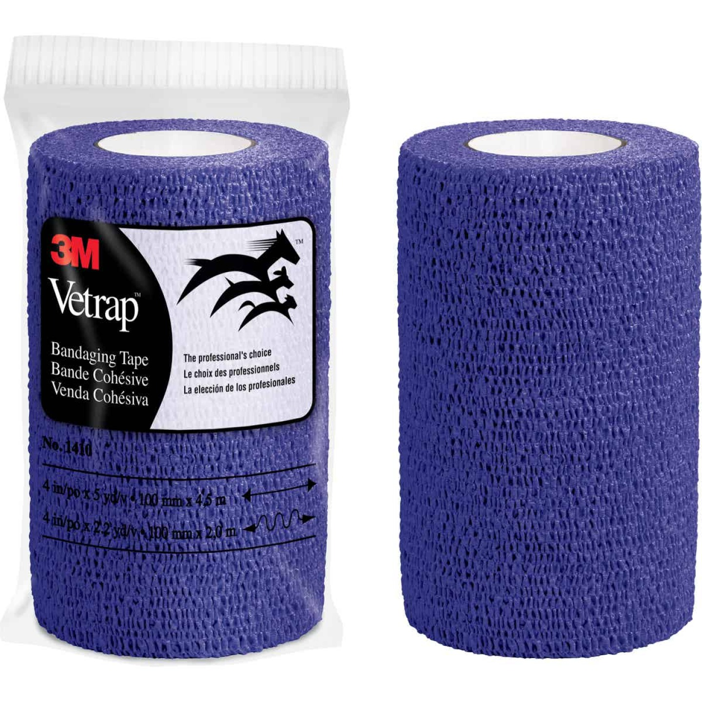 3M Vetrap 4 In. x 5 Yd. Purple Bandaging Wrap Image 1