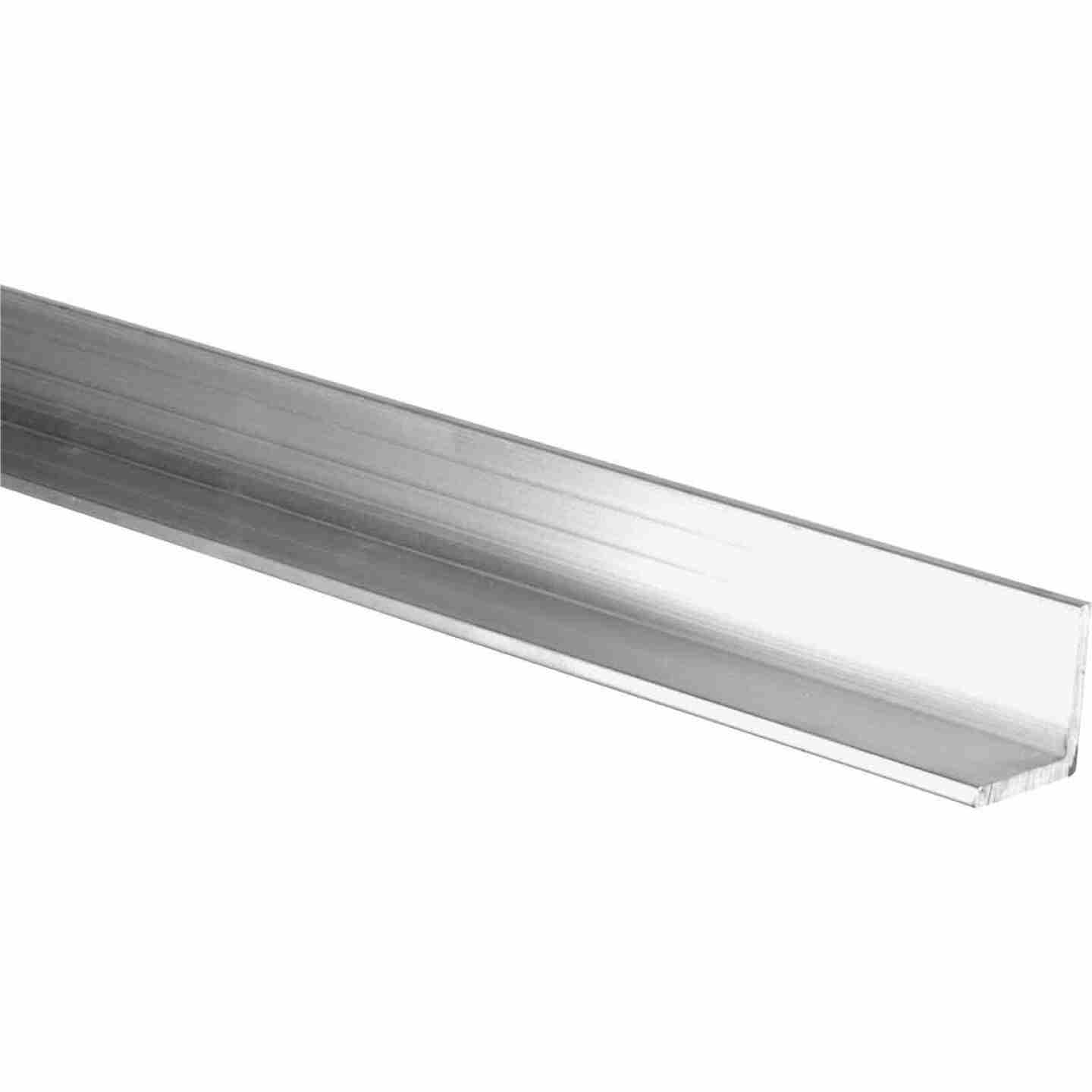 HILLMAN Steelworks Mill 1 In. x 6 Ft., 1/8 In. Aluminum Solid Angle Image 1