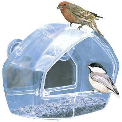 Birdscapes Clear Plastic Window Bird Feeder