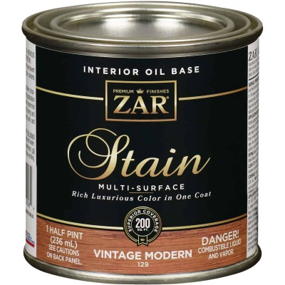 ZAR Oil-Based Wood Stain, Vintage Modern, 1/2 Pt.
