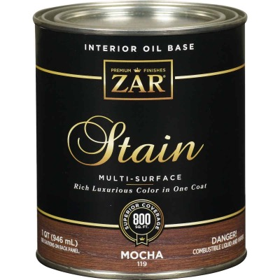 ZAR Oil-Based Wood Stain, Mocha, 1 Qt.