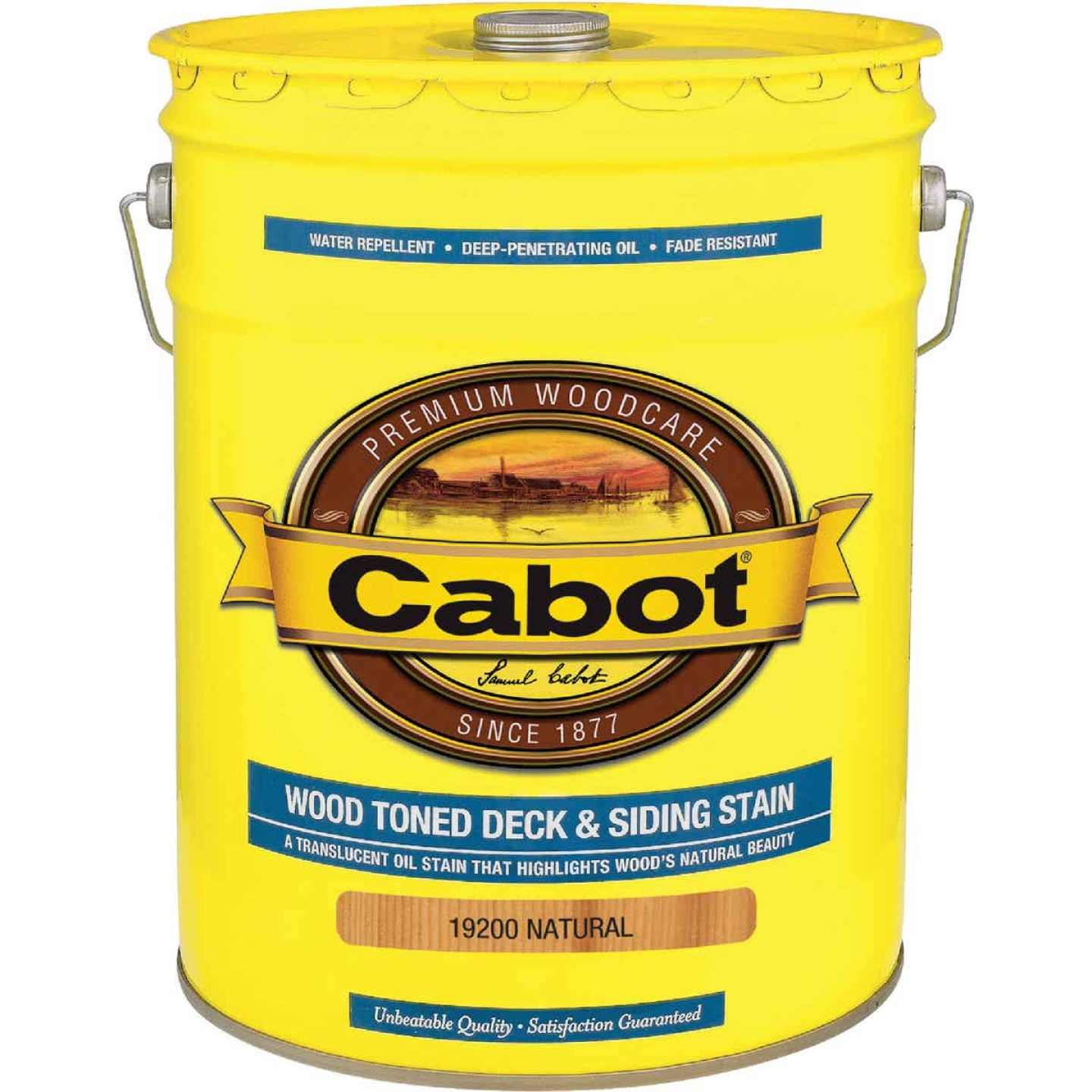 Cabot VOC Wood Toned Deck & Siding Exterior Stain, Natural, 5 Gal. Image 1