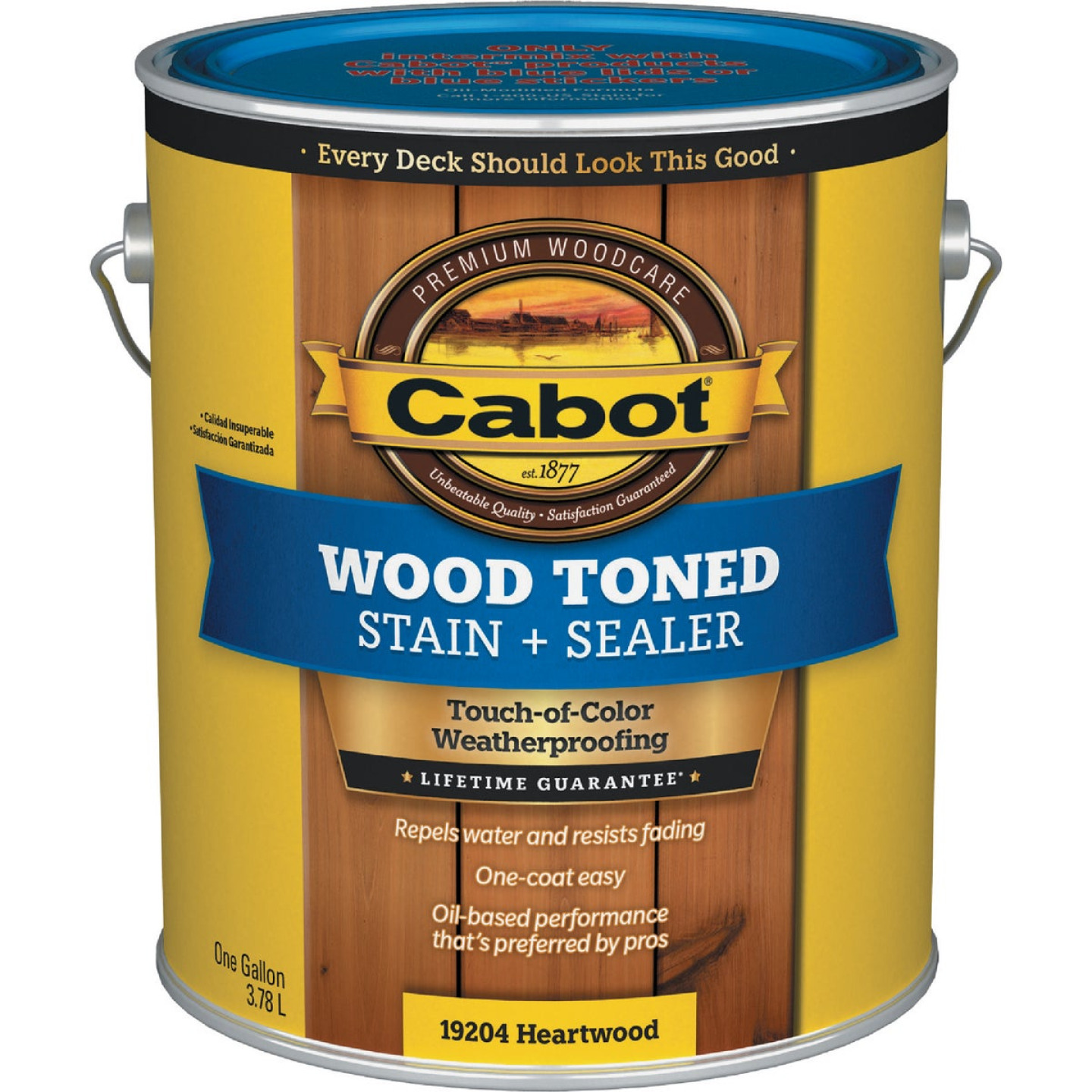 Cabot VOC Wood Toned Deck & Siding Exterior Stain, Heartwood, 1 Gal. Image 1