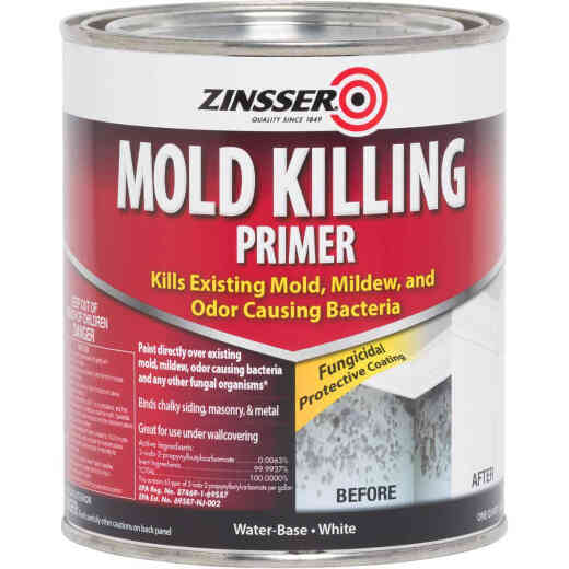 Zinsser Mold Killing Interior/Exterior Primer, White, 1 Qt.