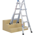 Werner 17 Ft. Aluminum Multi-Position Telescoping Ladder with 300 Lb. Load Capacity Type IA Ladder Rating Image 10