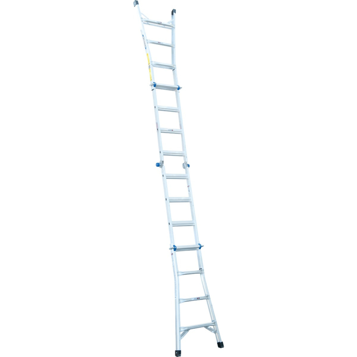 Werner 17 Ft. Aluminum Multi-Position Telescoping Ladder with 300 Lb. Load Capacity Type IA Ladder Rating Image 9