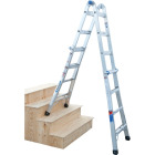 Werner 17 Ft. Aluminum Multi-Position Telescoping Ladder with 300 Lb. Load Capacity Type IA Ladder Rating Image 11